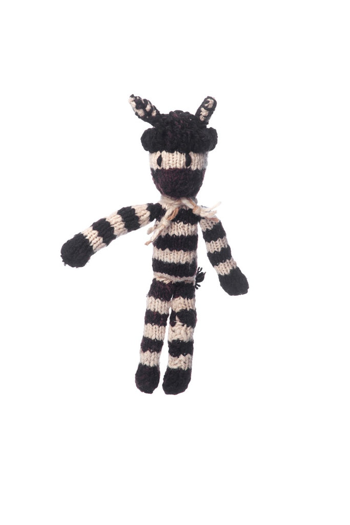 Wool Spider Toy Zebra - Small