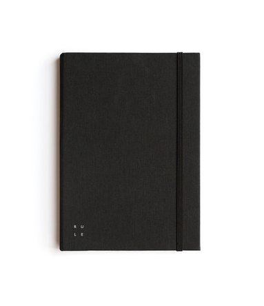 Milligram - Soft Cover Linen Notebook - Ruled - A5 - Black