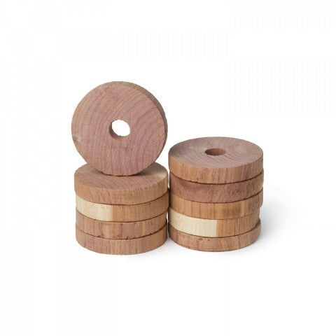 Red Cedar Discs Hanger Rings