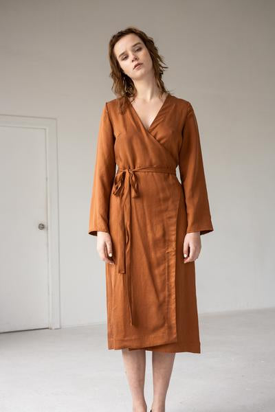 Wrap Dress, Terracotta