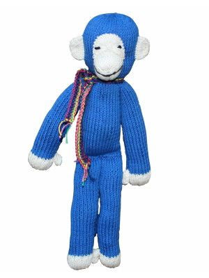 Organic Cotton Spider Monkey - Blue - Small