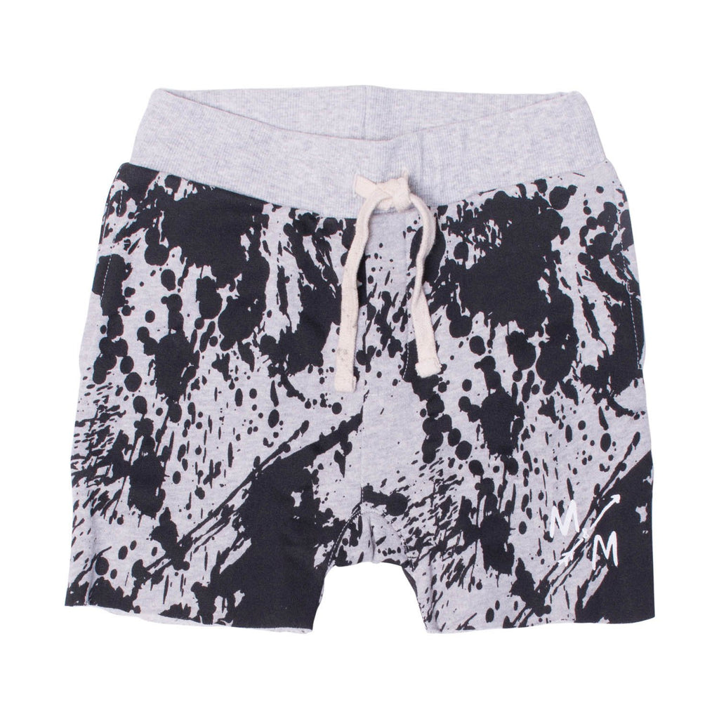 Boys Shorts - Black Splatter