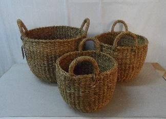 Cup Shaped Seagrass Basket - Small