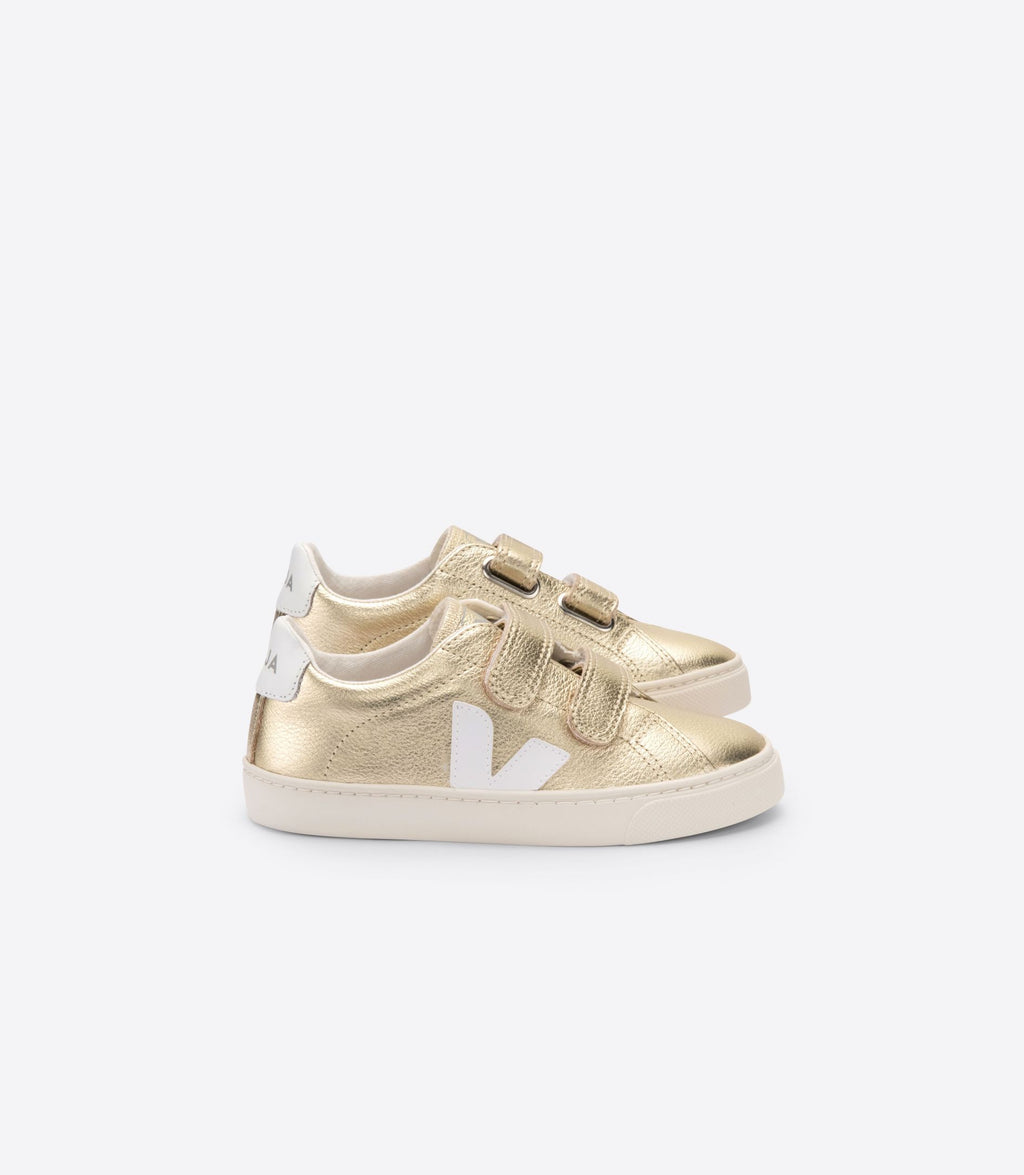 Children's Esplar Leather - Gold/White
