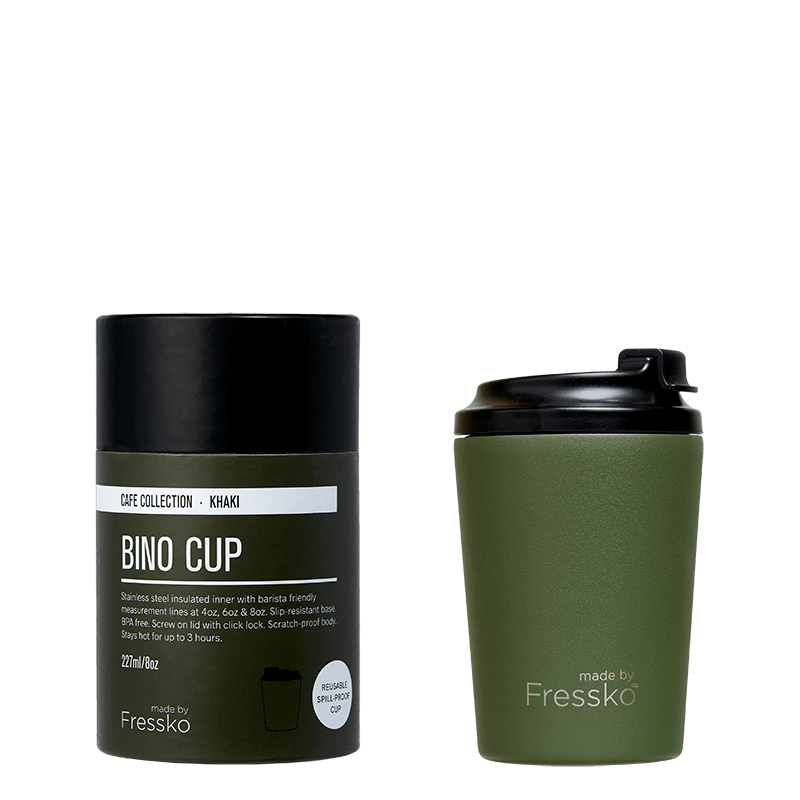 Bino Reusable Coffee Cup - Khaki