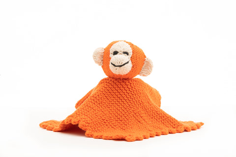 Organic Cotton Comforter - Monkey - Orange