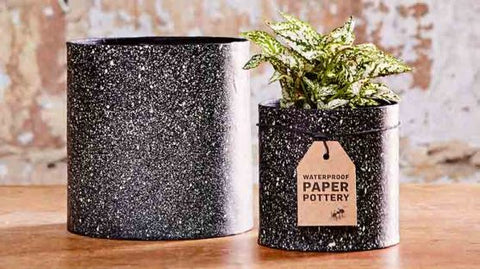 Dalby Paper Pot - Granite