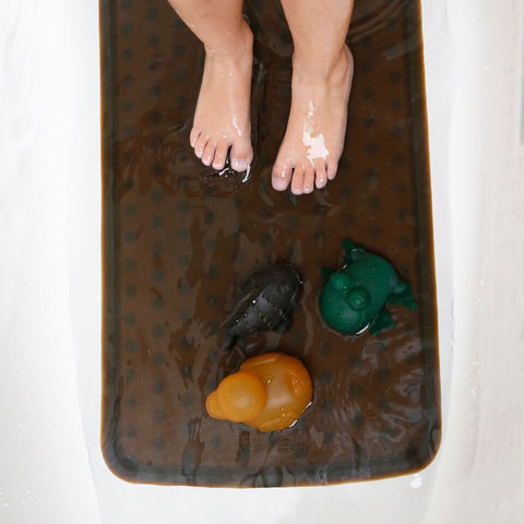 Natural Rubber Bath Mat - Charcoal