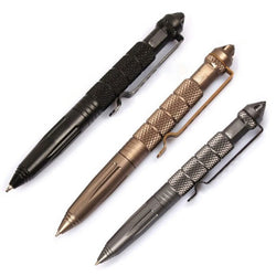 Survival EDC Outdoor Tactical Pen Glass Breaker Self Defense Aluminum Emergency Survival Tool