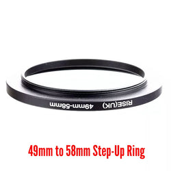 Camera Aluminium Adapter Ring - 49mm to 58mm Step-up