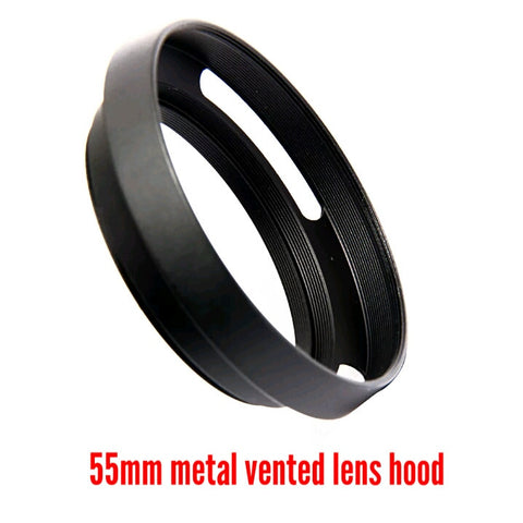 55mm Metal Vented Lens Hood