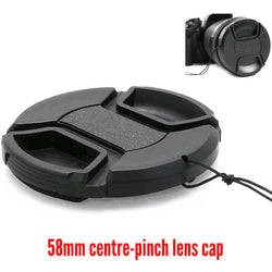 58mm Centre-pinch Lens Cap