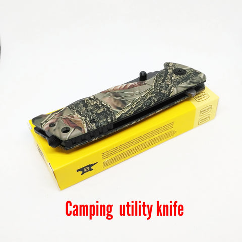 Camping Hiking Fishing Pocket Knife - Camo