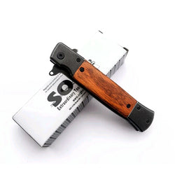 Camping Wood Pocket Hiking Fishing EDC Knife