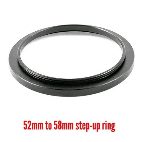 Camera Aluminium Adapter Ring - 52mm to 58mm Step-up