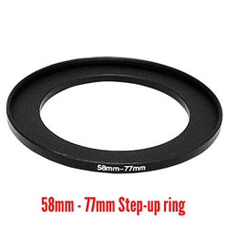 Camera Aluminium Adapter Ring - 58mm to 77mm Step-up
