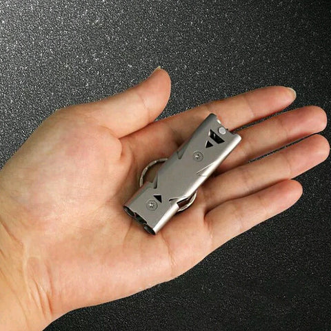 Stainless Steel Emergency EDC Whistle - SOS Outdoor Survival