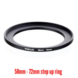 Camera Aluminium Adapter Ring - 58mm to 72mm Step-up