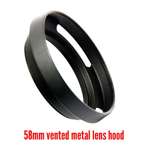 58mm Vented Metal Lens Hood