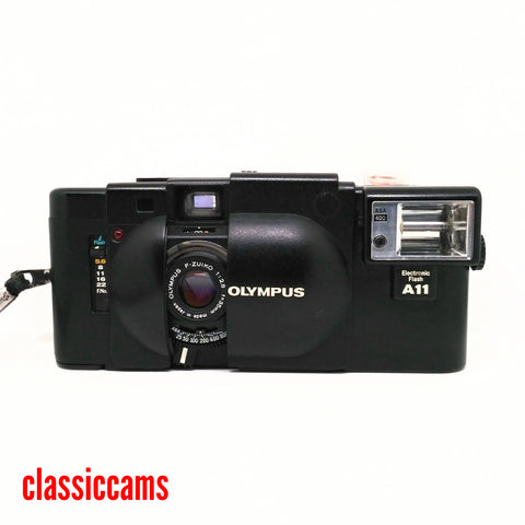 Olympus XA with A11 Flash