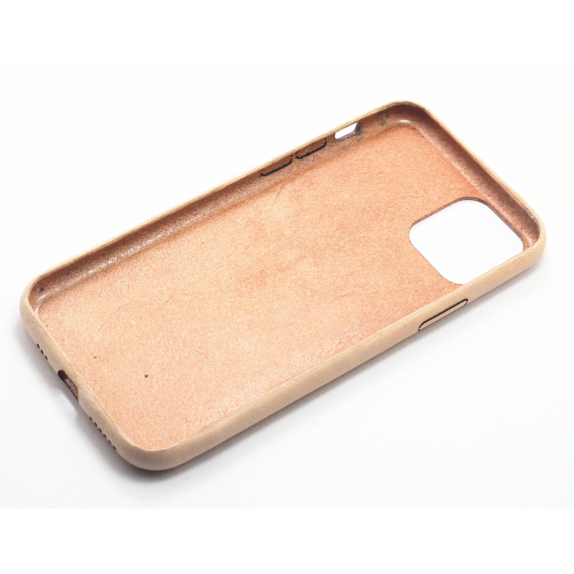 JJNUSA  Best Sale Genuine Leather Distressed  Vegetable tanned  Leather for Iphone 11  Full Leather Case  Free Shipping