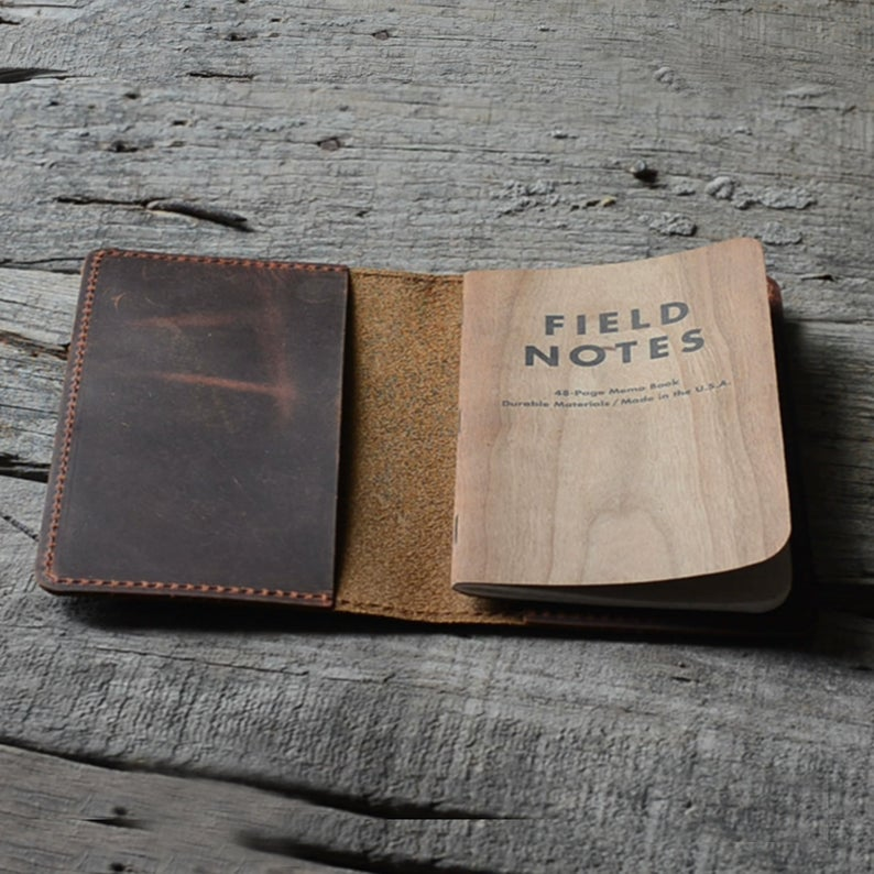 Distressed Genuine Leather Travel Journal Field Notes Cover Notebooks for 3.5 x 5.5 Notebook Moleskine Cahie Vintage Refillable Notepad