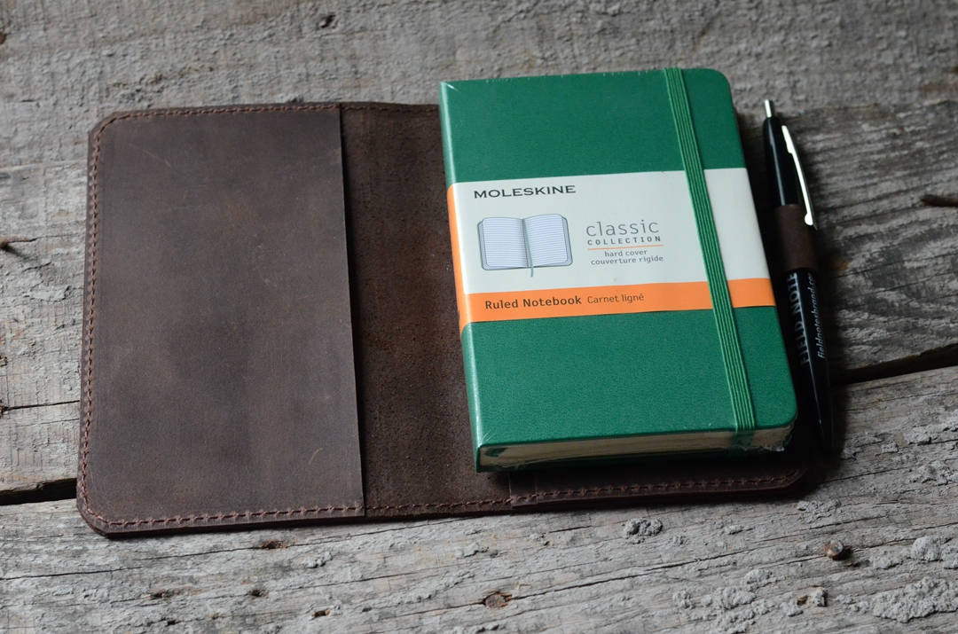 JJNUSA Leather  wallet  travel journal   notebook wallet for  field notes leather moleskine wallet cover