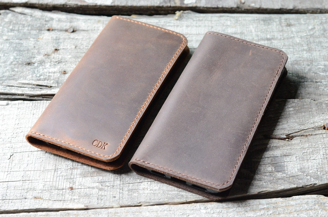 Leather iPhone 6 6s  7 wallet  travel journal wallet leather notebook wallet for pocket size  field notes leather moleskine wallet cover