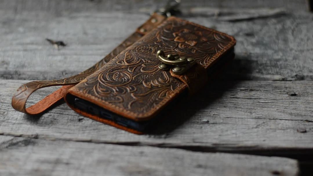 JJNUSA Handmade Samsung Galaxy  NOTE 9  Leather Wallet Case