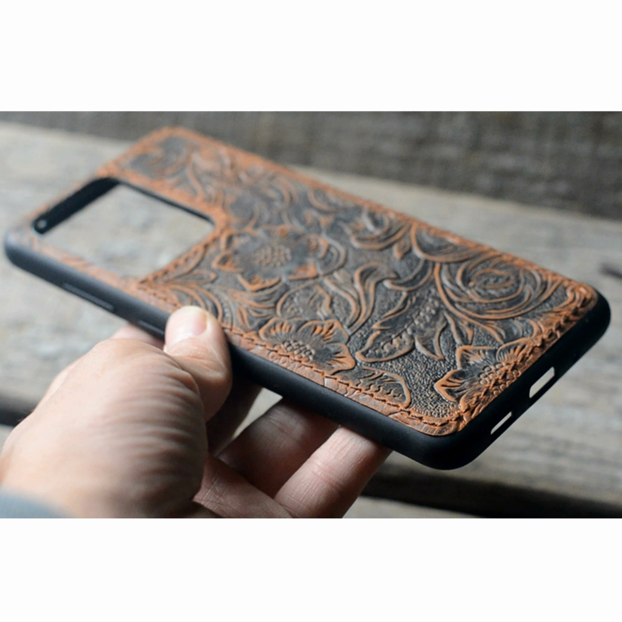 JJNUSA Handmade Samsung Galaxy S20 5G Leather Wallet Back Case