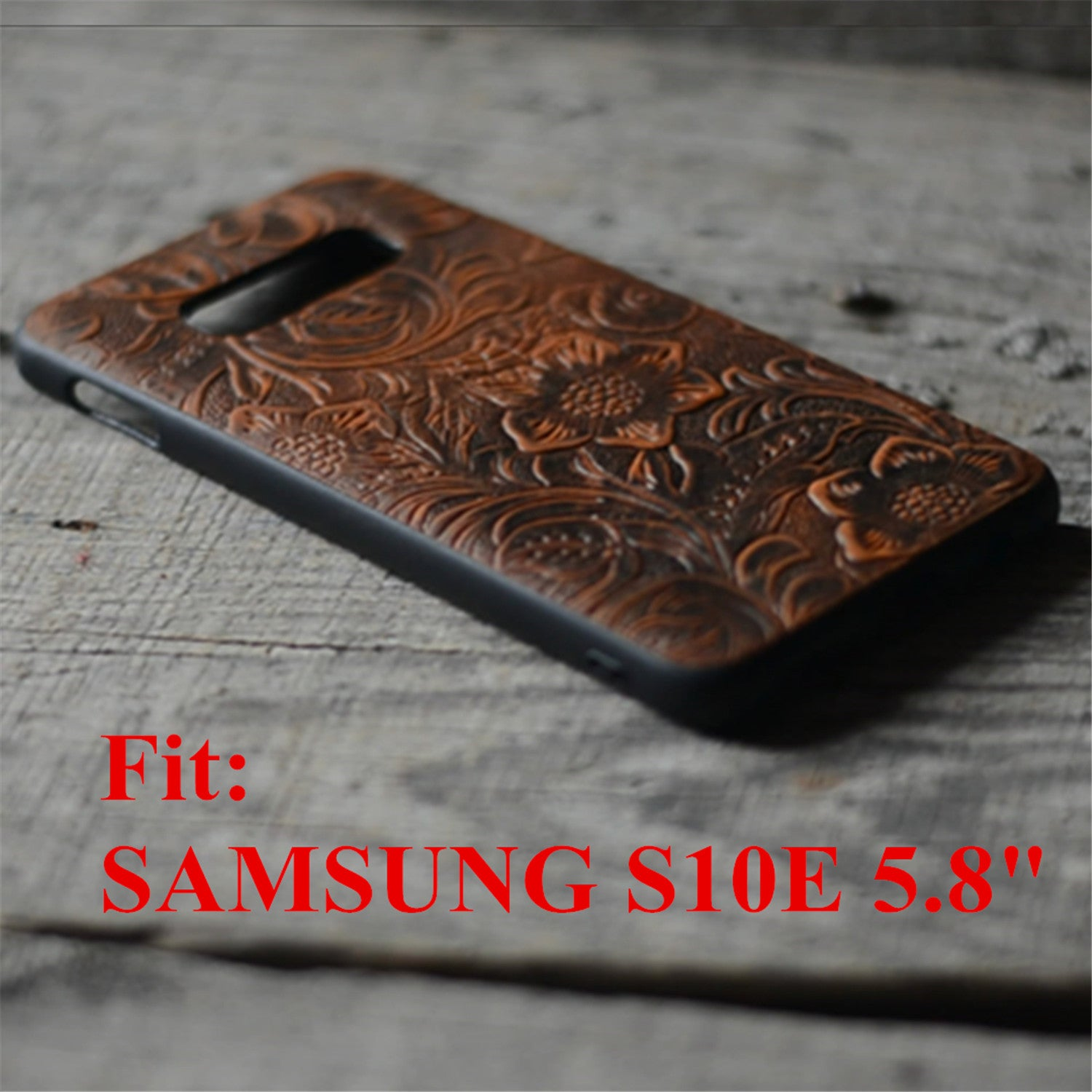JJNUSA Handmade Leather Case for Samsung Galaxy s10e 5.8 inches Back Case