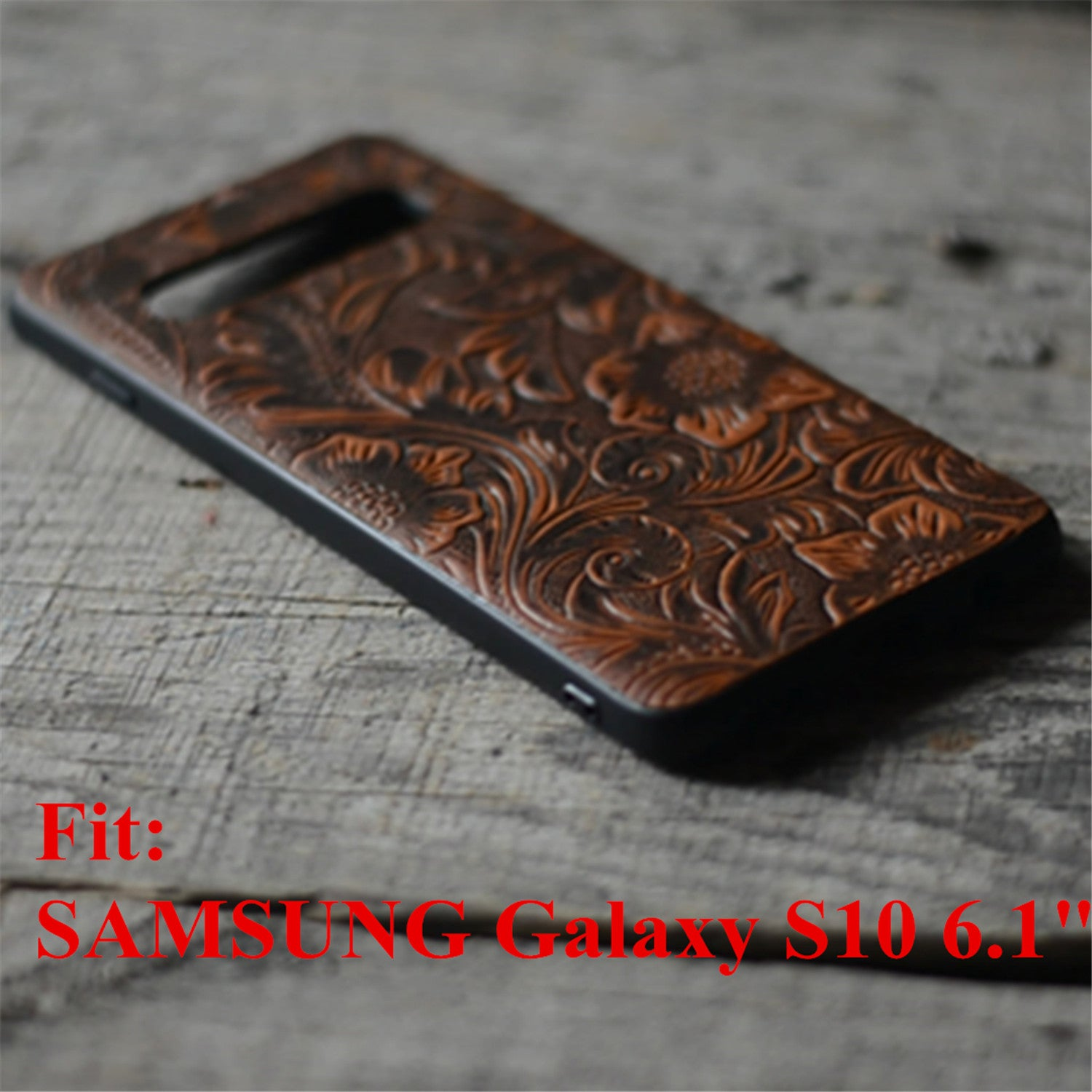 JJNUSA Handmade Leather Case for Samsung Galaxy s10 6.1 inches Back Case