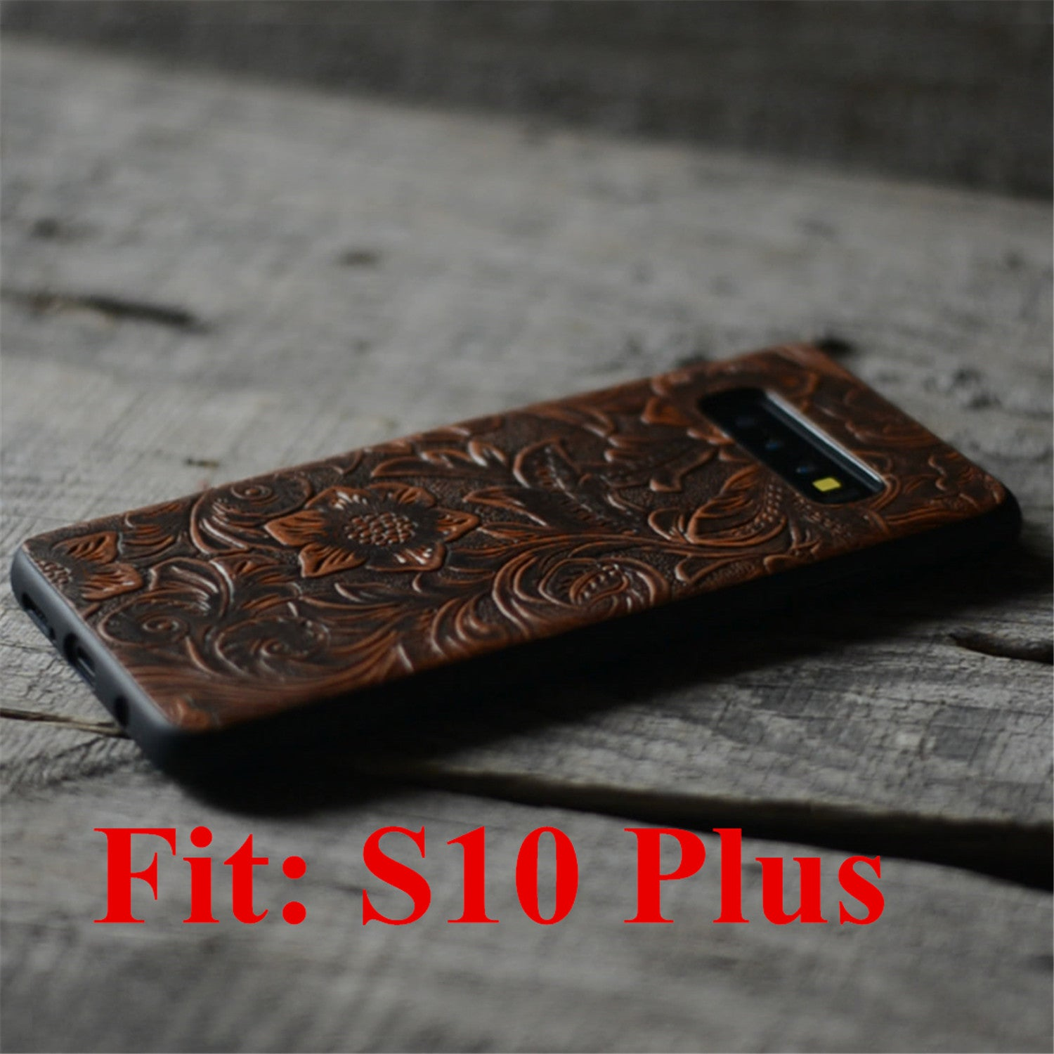 JJNUSA Handmade Leather Case for Samsung Galaxy s10 plus 6.4 inches Back Case