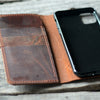 JJNUSA  Genuine Leather Distressed Wallet for Google Pixel 4 XL / 4   Case