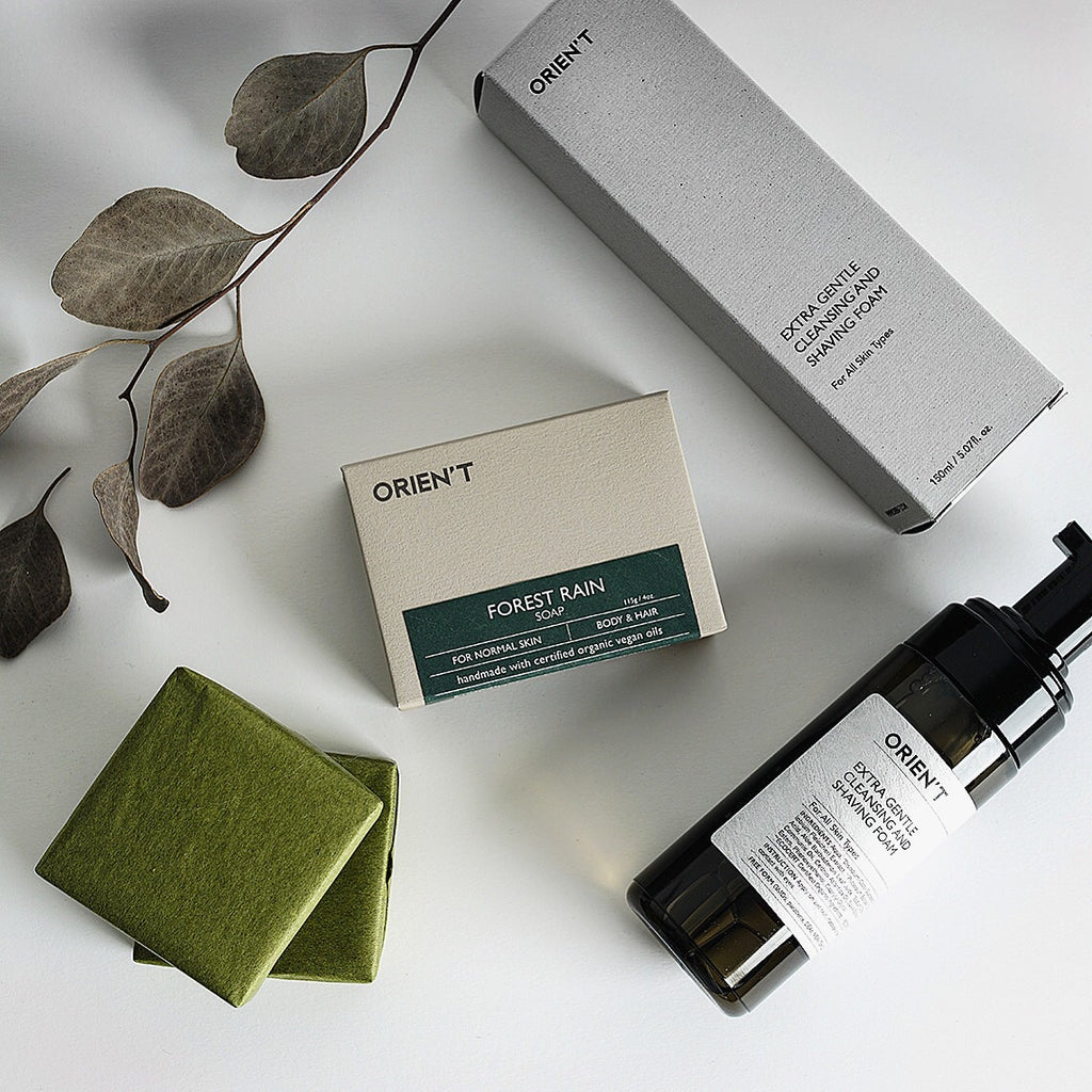 Forest Rain Soap + Extra Gentle Cleansing & Shaving Foam