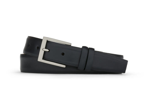 W. Kleinberg Black Semi-Matte Calf Belt