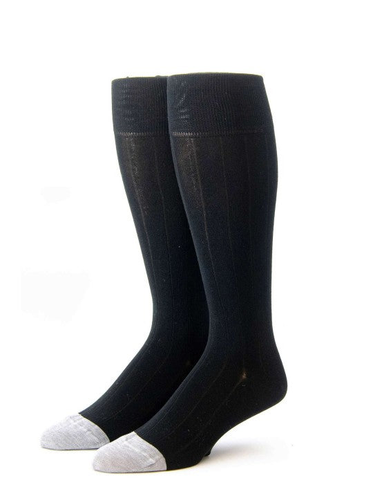 Edward Armah Black/Heather Ribbed Socks