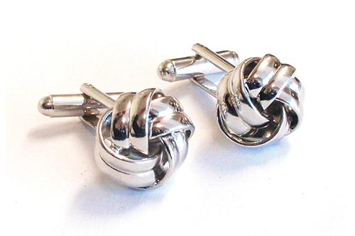 Love Knots / 18mm Silver Cuff Links