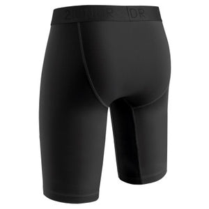 "2Undr Power Shift Black 9"" Athletic Brief"