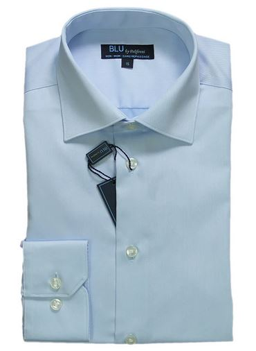 BLU by Polifroni Slim Fit Blue Dress Shirt