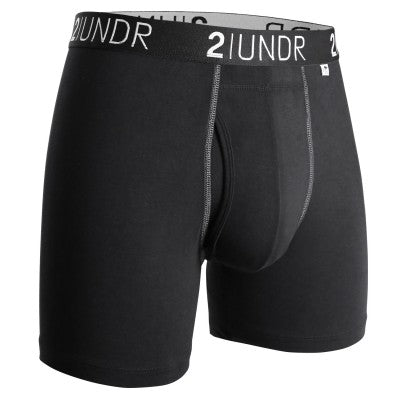 "2Undr Swing Shift Black/Grey 6"" Boxer Brief"