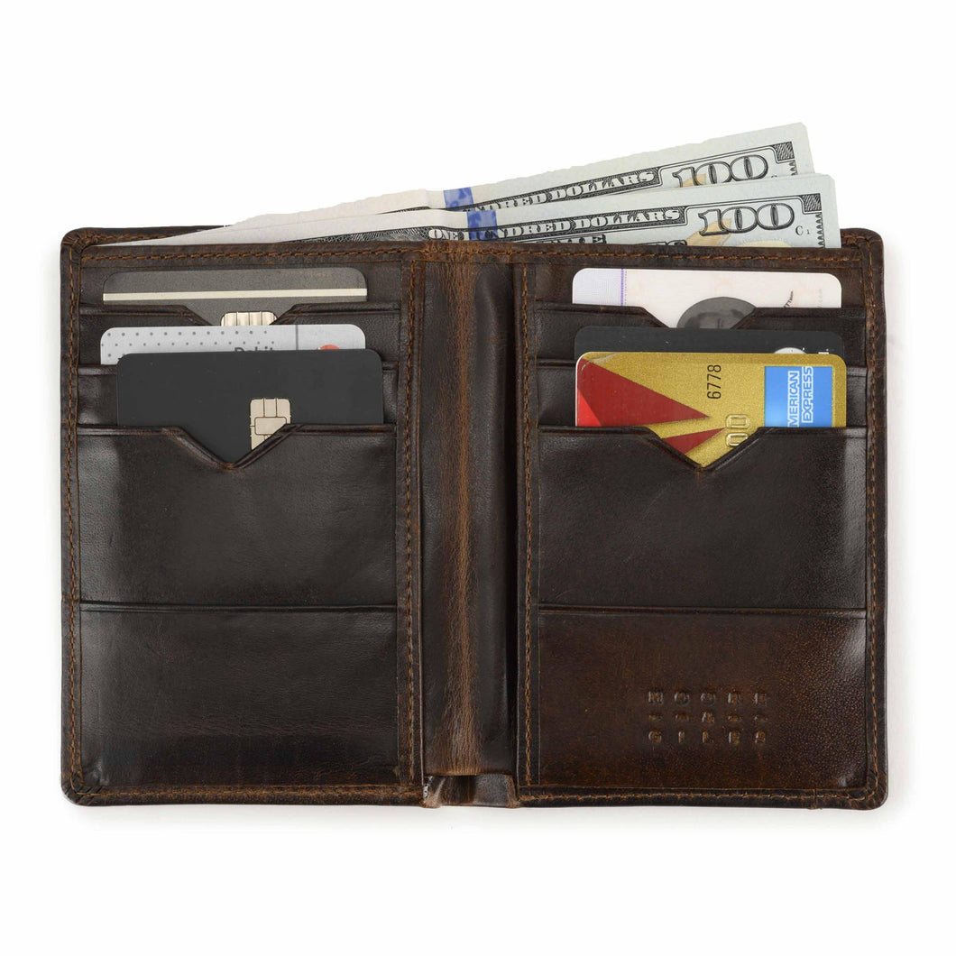 Moore & Giles Men's Wallet in Brompton Brown