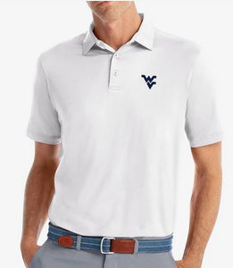 Johnnie-O WVU Birdie White Prep-Formance Polo