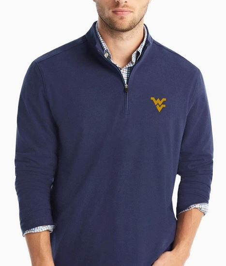 Johnnie-O WVU Brady Twilight 1/4 Zip MicroFleece
