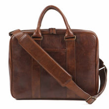 Moore & Giles Bryant Tech Brief Case in Titan Milled Brown