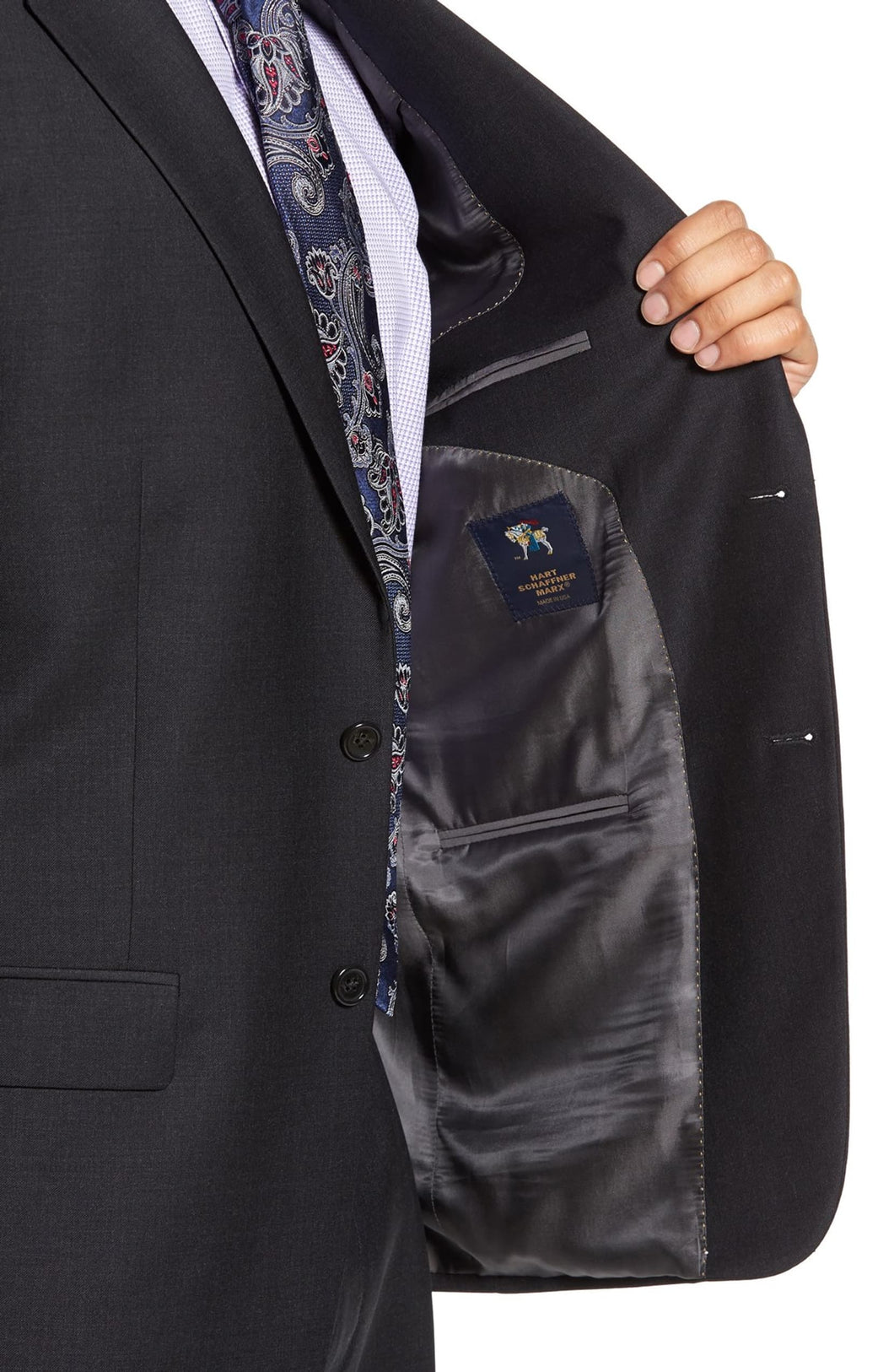 Hart Schaffner Marx Full Fit Charcoal Suit
