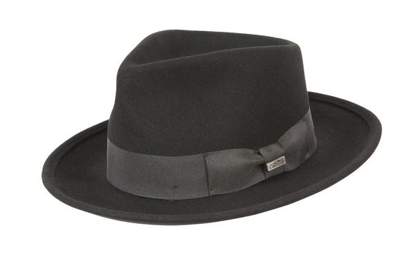 Crushable Black Fedora
