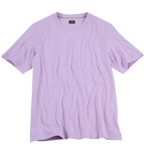 Left Coast Tee Lilac Solid Crew Neck Tee Shirt