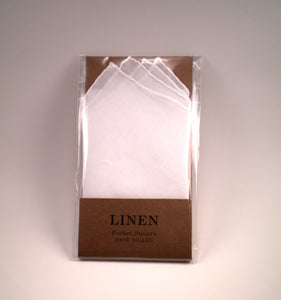 100% Irish Linen Pre-Folded Pocket Square
