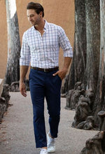 Mizzen+Main Baron Navy Trim Fit Chino